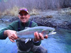 Fellow guide Mike Wright with a nice Trinity steelie
