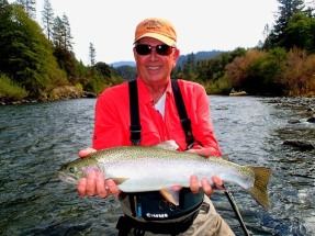 This fish was caught on a spey rod
