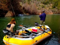 We use both rafts and drift boats on the Trinity River